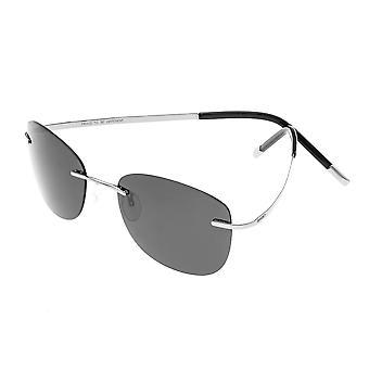 Breed Adhara Polarized Sunglasses - Silver/Black