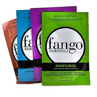 Borghese Fango Essenziali Treatment Sheet Mask Box Set (1x Moisturize Mask, 1x Purify Mask, 1x Calm Mask, 1x Energize Mask) 4x25ml/0.83oz
