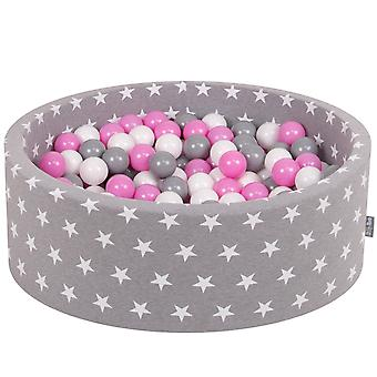 Kiddymoon Baby Ballpit With Balls ∅ 7Cm / 2.75In Certified Made In EU, Stars