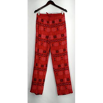 Carole Hochman lounge bukser høj Waffle fleece nyhed rød A294078