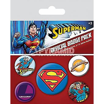 Superman 5 ronde Pin Badges in Pack (py)