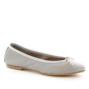 Sapatos Leonardo mulheres ' s handmade slip-on sapatilhas sapatilhas cinza couro bezerro