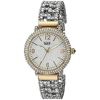 Burgi women's watch quartz BUR140YG with alloy band analog Display, multi colored