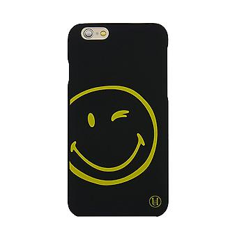 X Smiley iPhone 6 Ultra Slim Smiley Wink Face Flexi Hard Shell