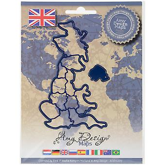 Find It Trading Amy Design Map Die-United Kingdom ADD10007