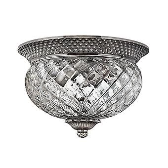 Plantation Traditional Ceiling Light with Clear Optic Glass