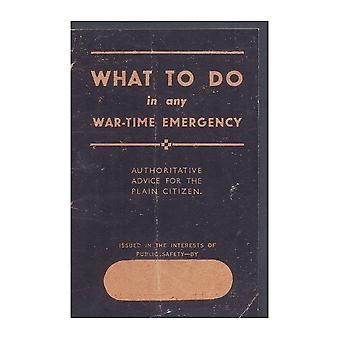 WW2 Replica ?What to Do in Any Wartime Emergency? Life-Saving Booklet