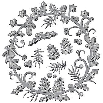 Spellbinders Shapeabilities Dies-Holly Berry Wreath S4632