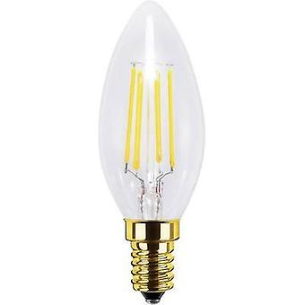 LED E14 Candle 4 W = 30 W Warm white (Ø x L) 35 mm x 98 mm EEC: A+ Segula dimmable, Filament 1 pc(s)