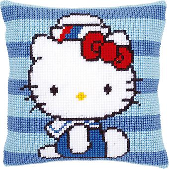 Hello Kitty Marine 1 Cushion Cross Stitch Kit-16