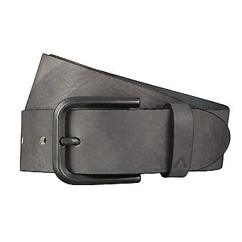 ALBERTO Bull belts men's belts leather belt grey 4609