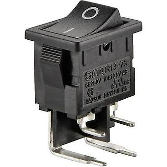 Toggle switch 250 Vac 6 A 2 x Off/On SCI R13-73A-10 latch 1 pc(s)