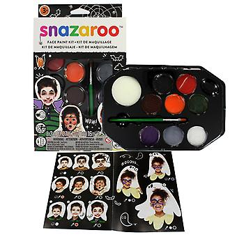 Snazaroo Halloween 8 Piece Colour Face Paint Kit Fancy Dress Accessory