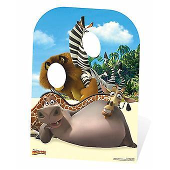 Madagaskar barn størrelse pap påklædningsdukke stå