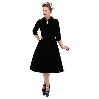 H&R Black Glamorous Velvet Tea Dress 10