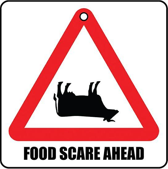 Food Scare Ahead Car Air Freshener