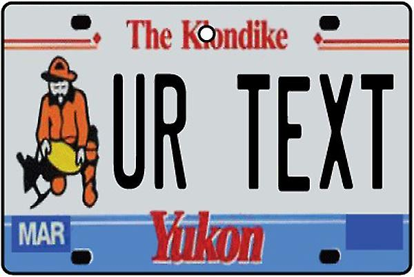 Personalized Yukon Numberplate Car Air Freshener
