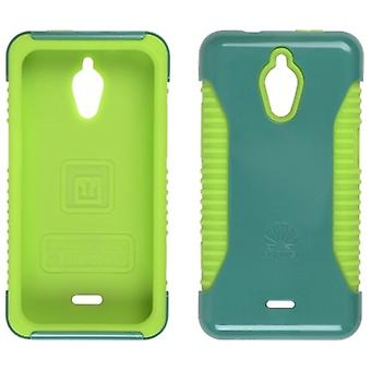 Trident Nestled Case for Huawei Valient M881(Teal/Lime Green)