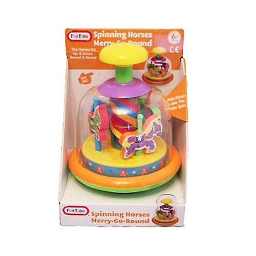 Fun Time Merry Go Round Spinning Horses 6m+