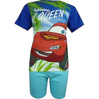 Boys Disney Carsning McQueen Short Sleeve Pyjama Set EP2048