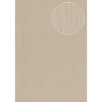 Noble University wallpaper Atlas COL-497-3 non-woven wallpaper smooth with stripes shimmering grey grey beige 5.33 m2