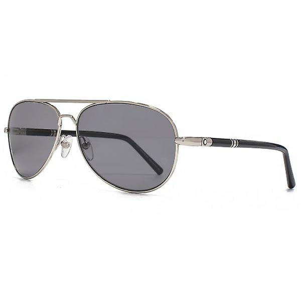 Montblanc Aviator Sunglasses In Silver