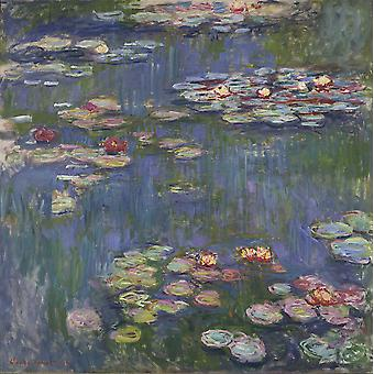 Claude Monet - Water Lilies Purple Poster Print Giclee