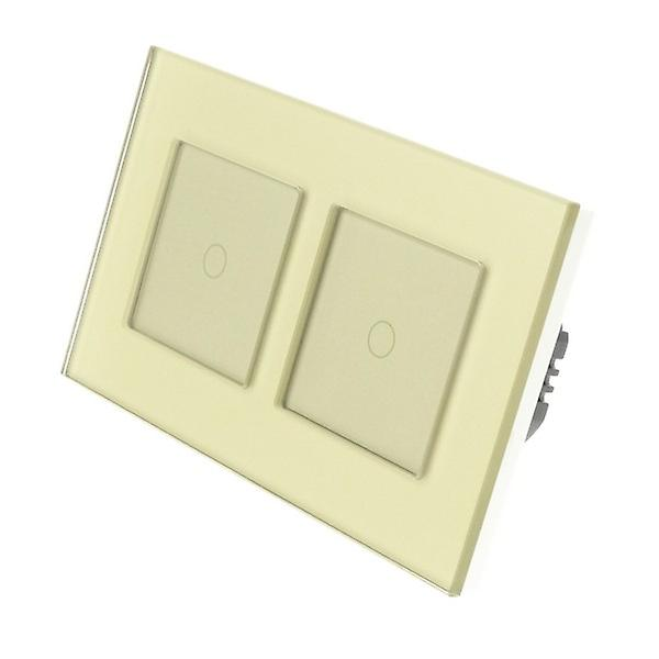 I LumoS or Glass Double Frame 2 Gang 2 Way WIFI 4G Remote Touch LED lumière Switch or Insert