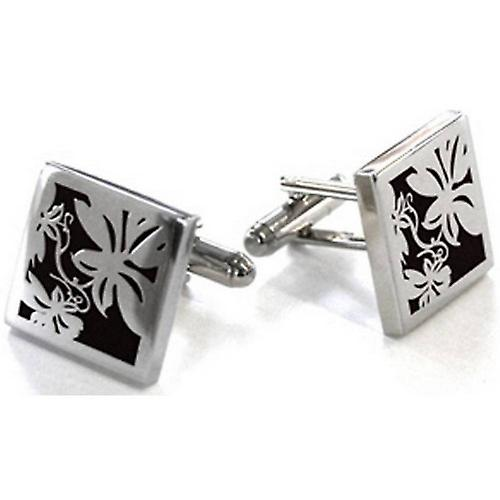 Tyler and Tyler Vine Cufflinks - Black