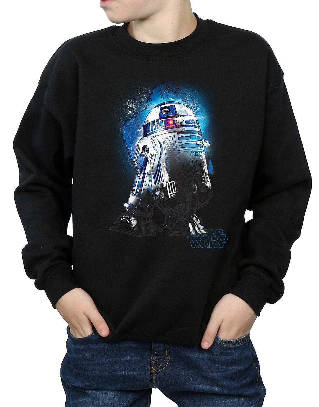 Star Wars Boys The Last Jedi R2-D2 Brushed Sweatshirt