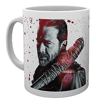 La tazza di sangue Negan morto a piedi