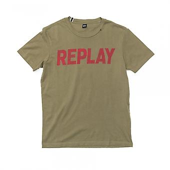 Replay Replay Printed Jersey Mens T-Shirt M3369.000.22432