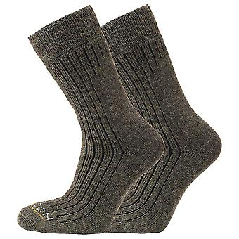 Heritage Unisex Workwear Ribbed Reinforced Socks (Pack Of 2)