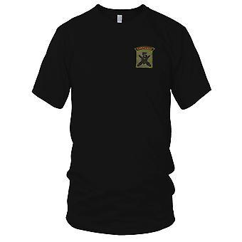 5 Commando - gekreuzt Daggers - grüne Pipe, die militärische Abzeichen Patch - Kinder T Shirt bestickt