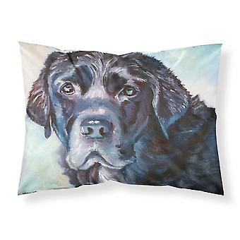 Black Labrador Face Fabric Standard Pillowcase