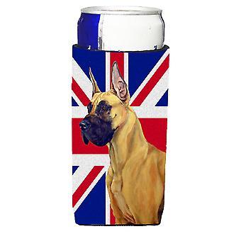 Great Dane with English Union Jack British Flag Ultra Beverage Insulators for sl