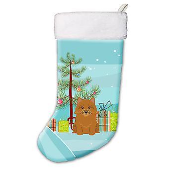 Meia de Natal feliz Natal árvore Norwich Terrier
