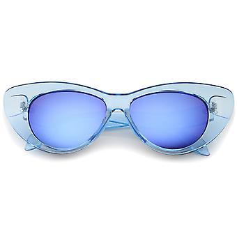 Женщин в радужные Зеркало объектива преувеличены Cat глаз очки 51 мм