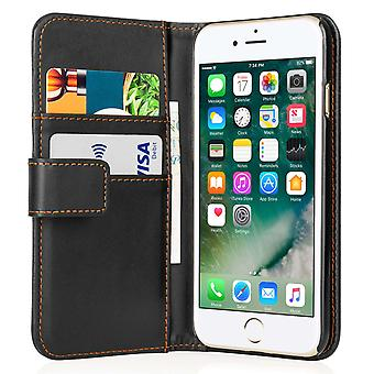 Yousave tilbehør Iphone 7 læder effekt pung - sort