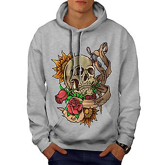 Stabbed Head Death Men GreyHoodie | Wellcoda