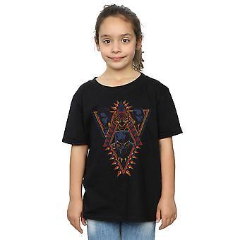 Marvel Girls Black Panther Tribal Heads T-Shirt