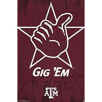 Texas A&M University - Logo 13 Poster Print