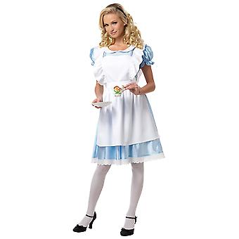 Alice In Wonderland Classic Long Dress Fairy Tale Book Week Women Costume