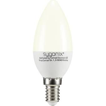 LED E14 vela 3 W = 25 W Warm white (Ø x L) 37,50 x 99 mm EEC: a + Sygonix 1 PC