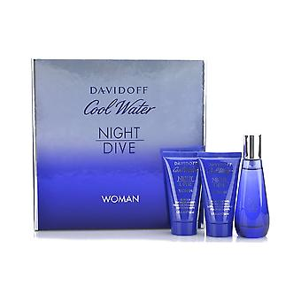 Davidoff Cool Water Night Dive Woman Eau de Toilette Gift Set 50ml