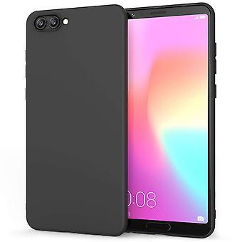 Huawei Honor View 10 Matte Gel Case - schwarz