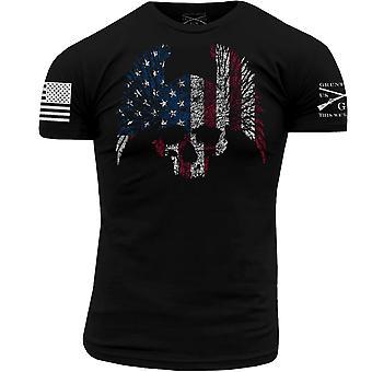 Grunt Style Biker Flag T-Shirt - Black