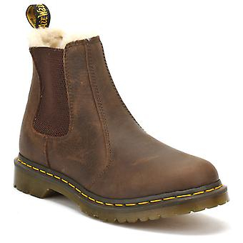 Dr. Martens Womens Dark Brown Burnished Wyoming Leonore Boots