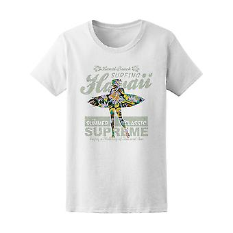 Girly Floral Hawaii Surfing Tee Women's -Image by Shutterstock