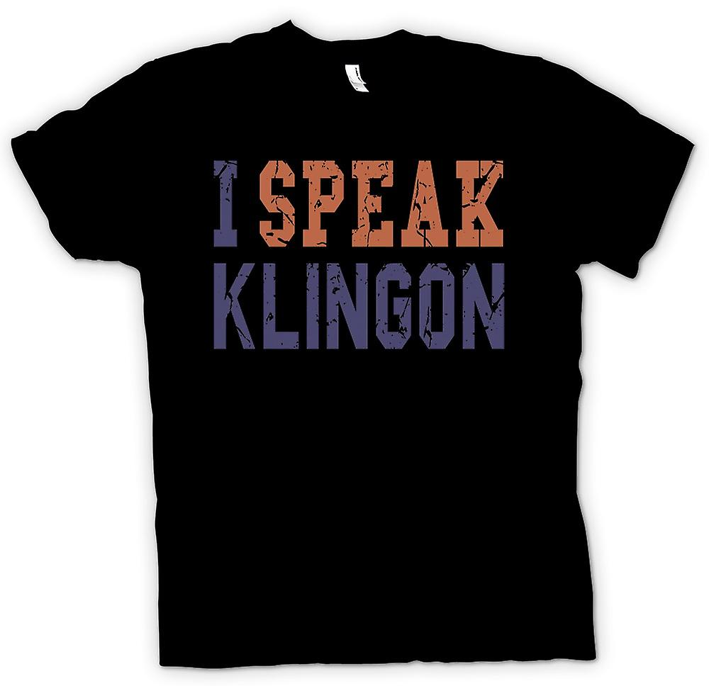 Kids T-shirt - I Speak Klingon - Funny